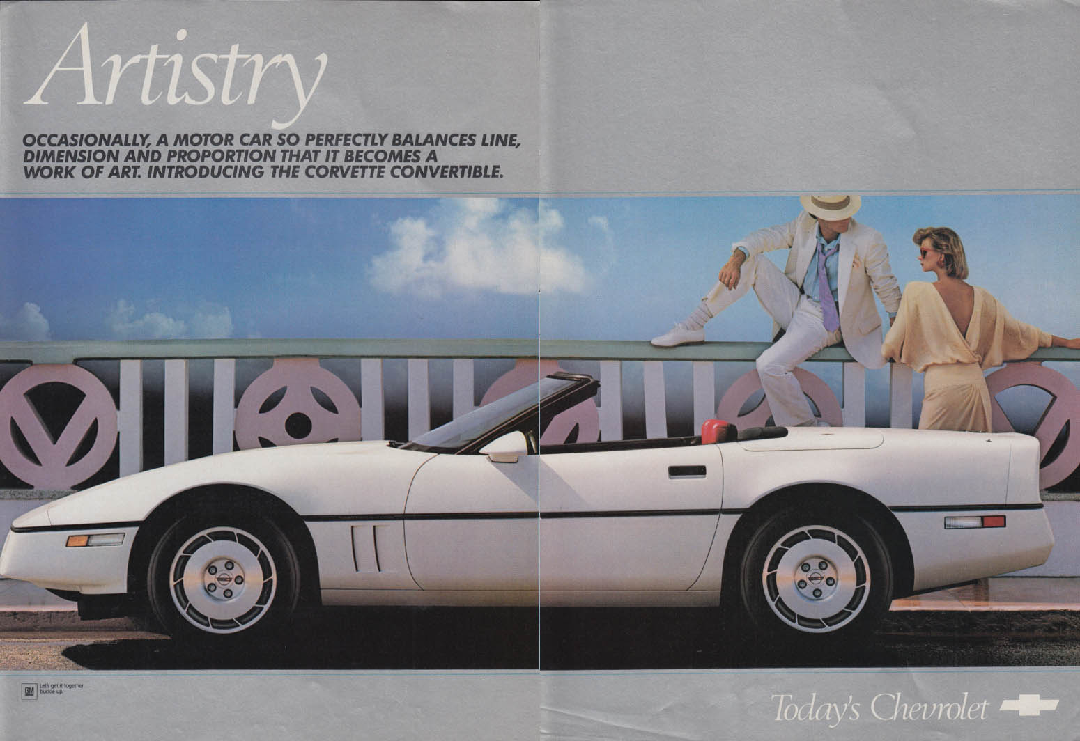 Artistry. Perfectly balances line dimension & proportion Corvette ad 1986