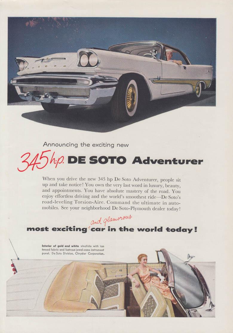 Announcing a 345hp De Soto Adventurer ad 1957