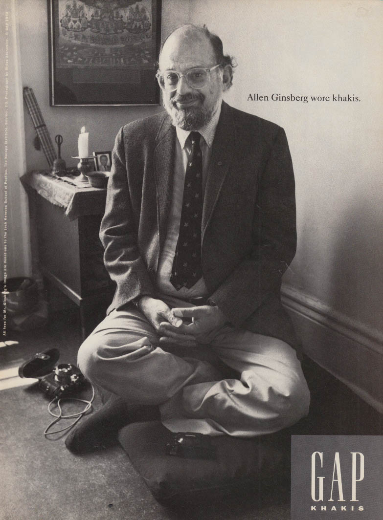 Allen Ginsberg wore khakis GAP Khakis ad 1994