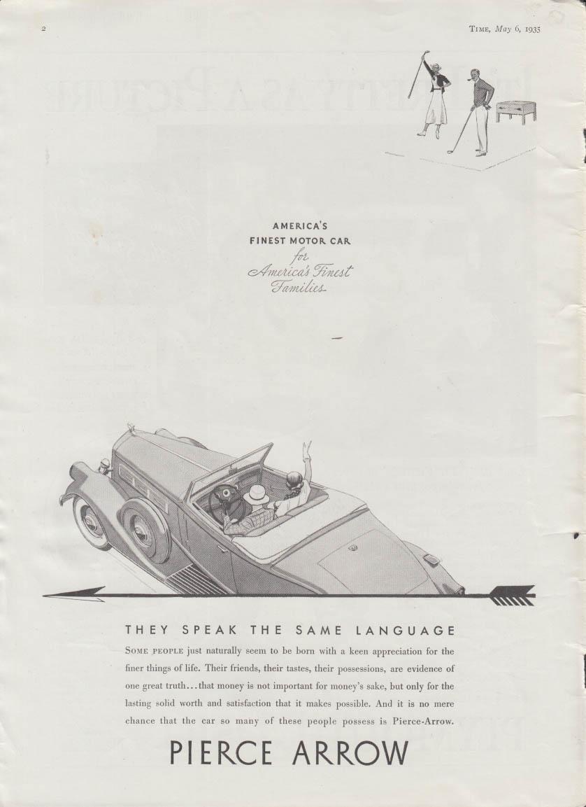 They speak the same language Pierce-Arrow convertible coupe ad 1935