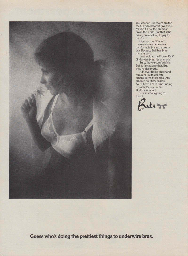 a8a59434fc Guess who's doing the prettiest things to underwire bras Bali bra ad 1972  RBK