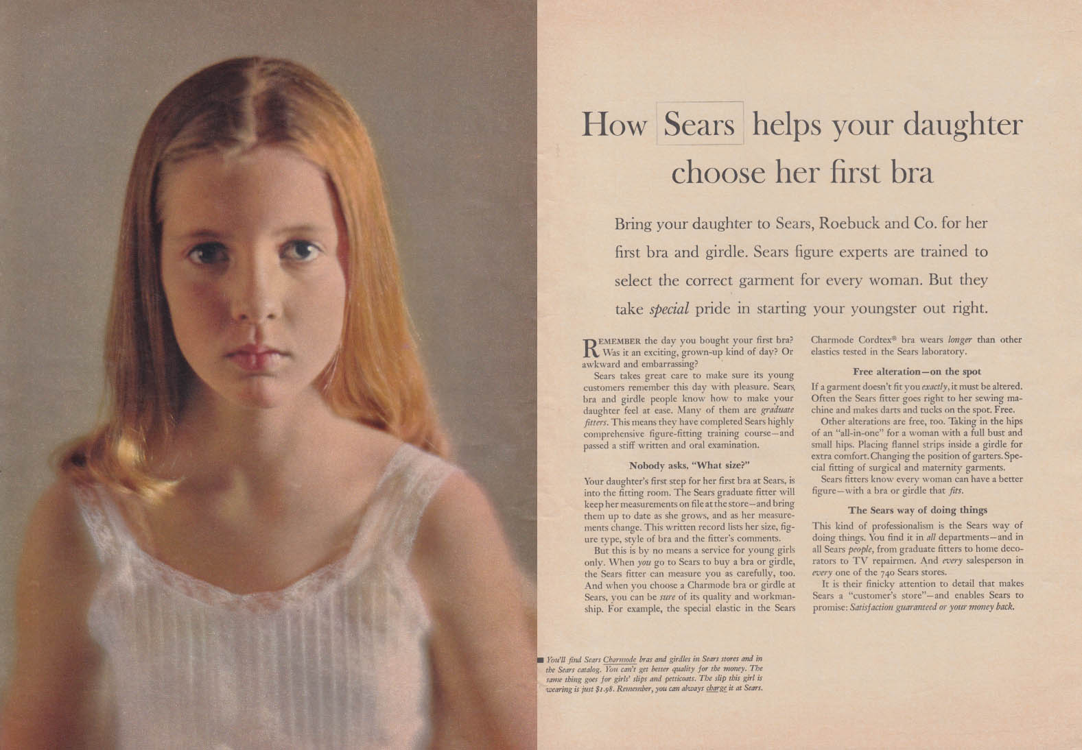 7847ec2d243 How Sears helps your daughter choose her first bra ad 1962 WD