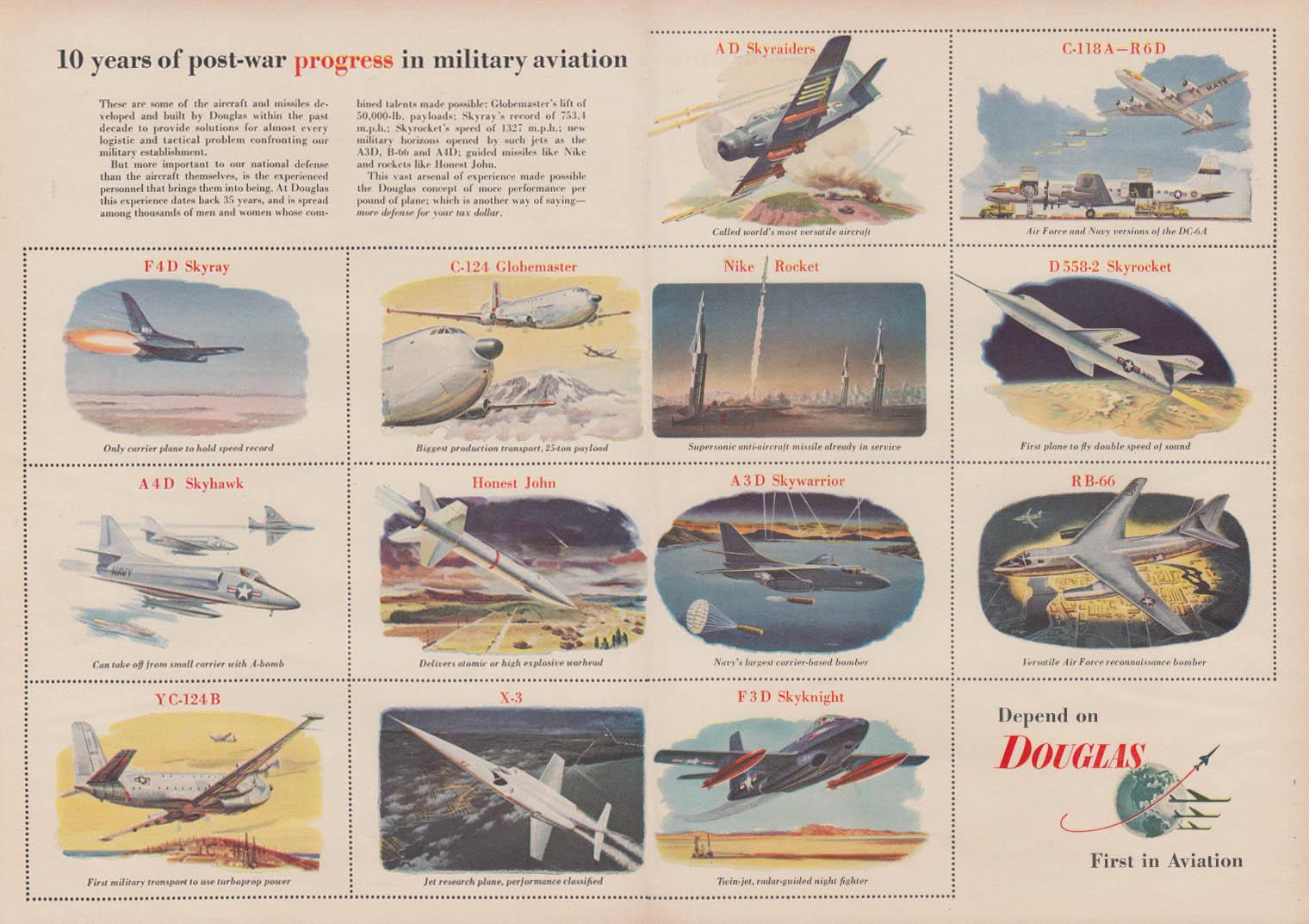 10 years of post-war progress in military aviation Douglas ad 1955