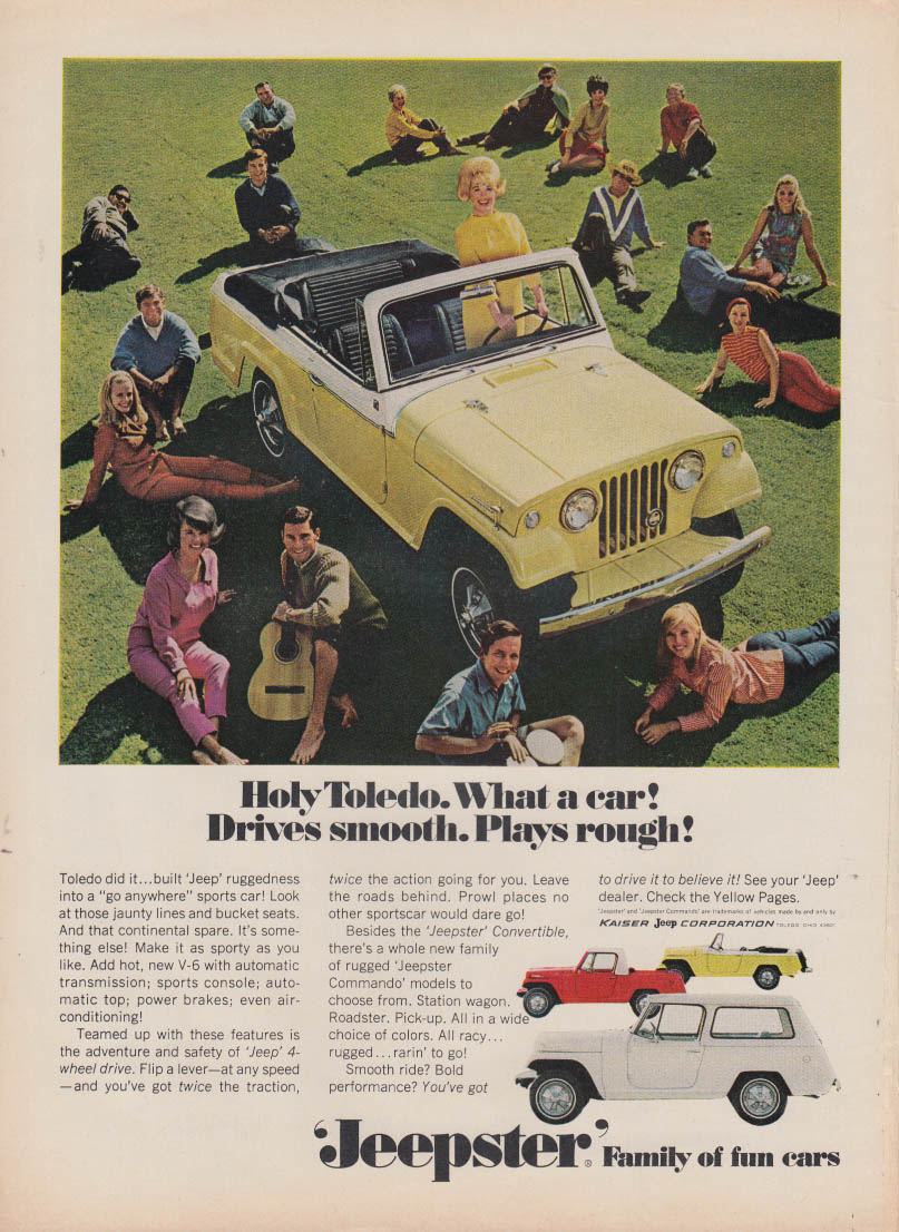 Image for Holy Toledo What a car! Drives smooth Plays rough! Jeepster ad 1967 T