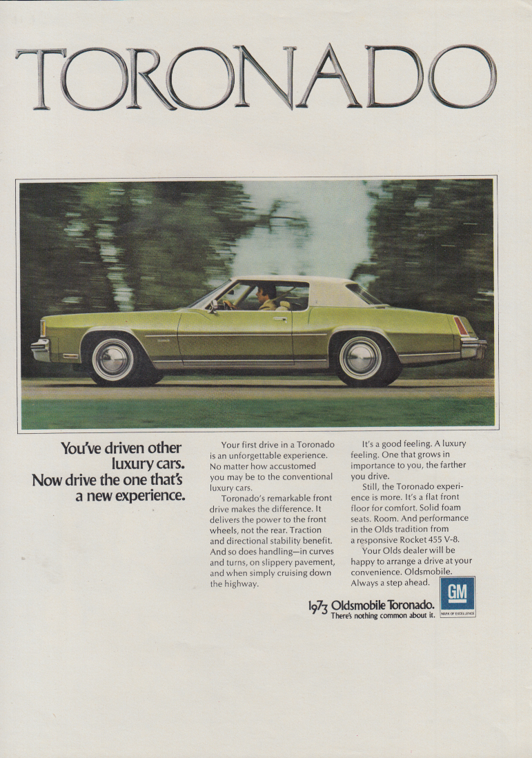 There are 2 kinds of luxury cars - we invented this Oldsmobile ...