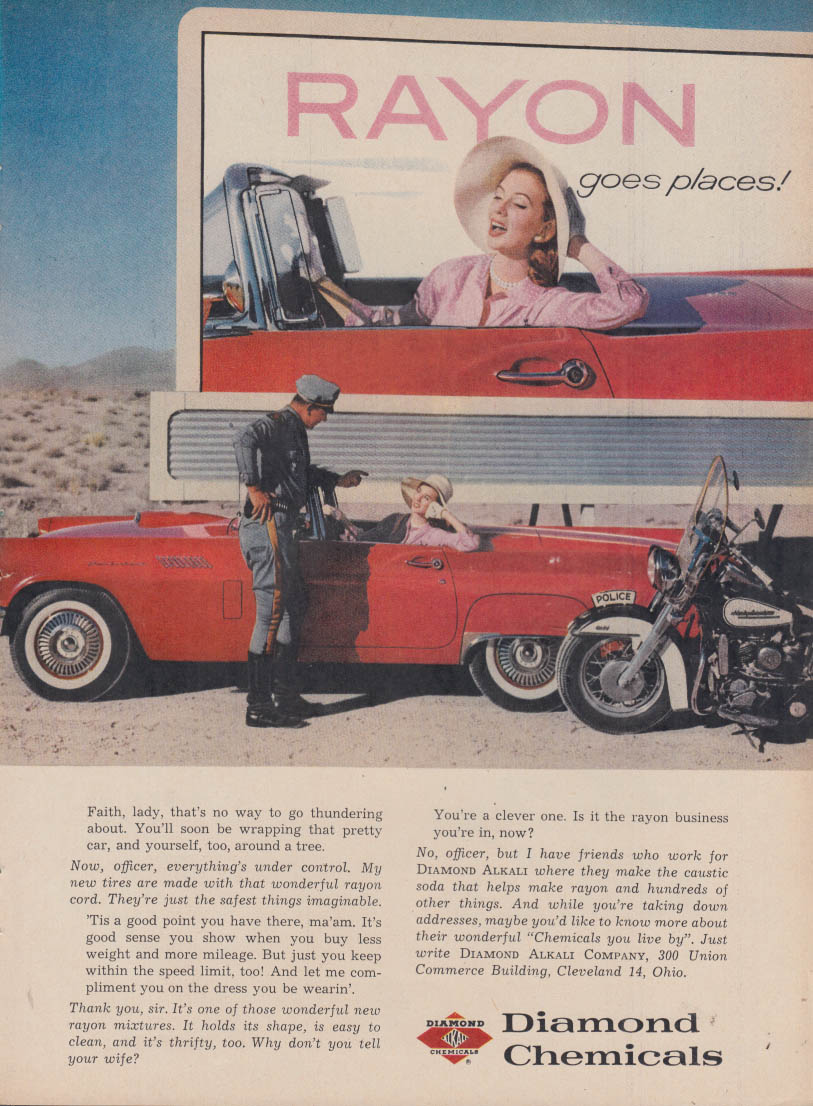Diamond Chemicals Rayon 1957 Thunderbird / Doulas A4D Skyhawk close support ad