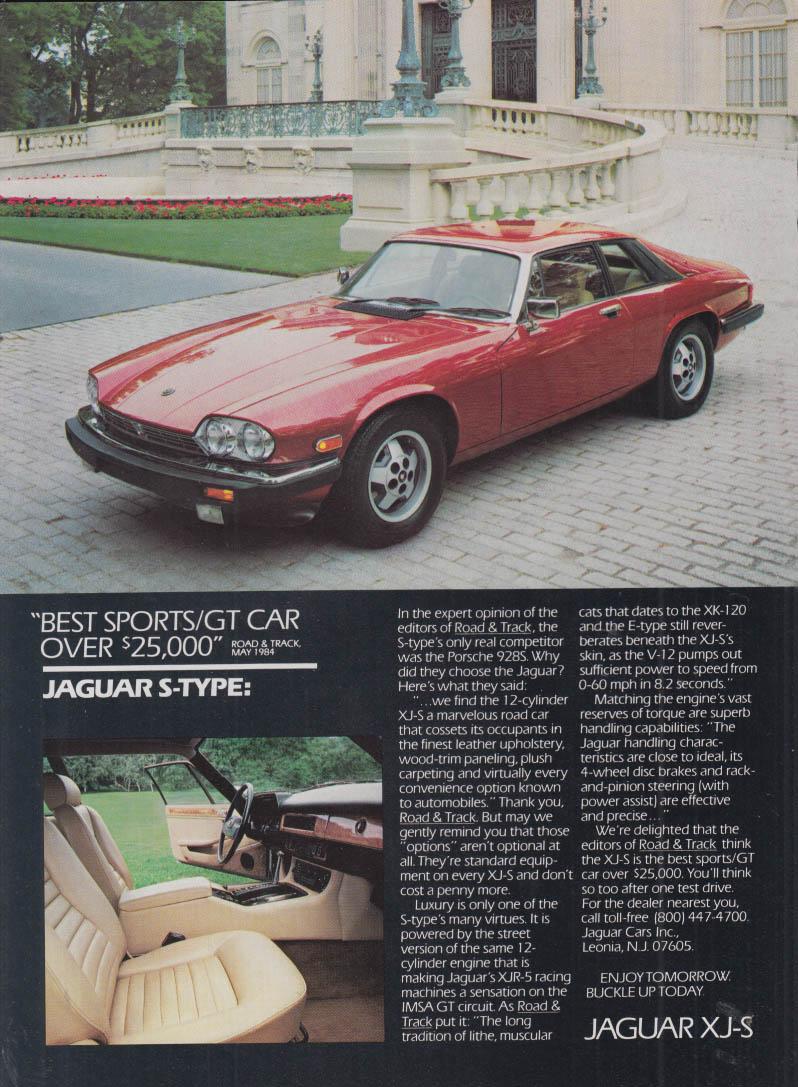 Best Sports / GT Car over $25,000 Jaguar XJ-S ad 1984 NY