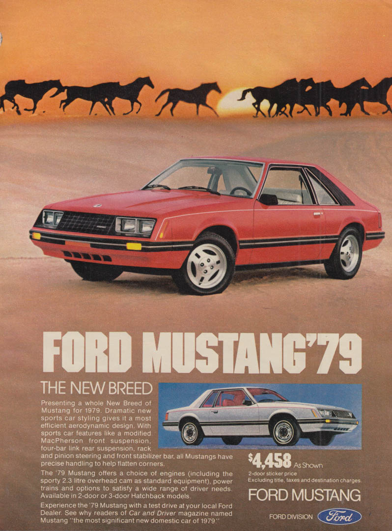 The New Breed Ford Mustang ad 1979 Seventeen
