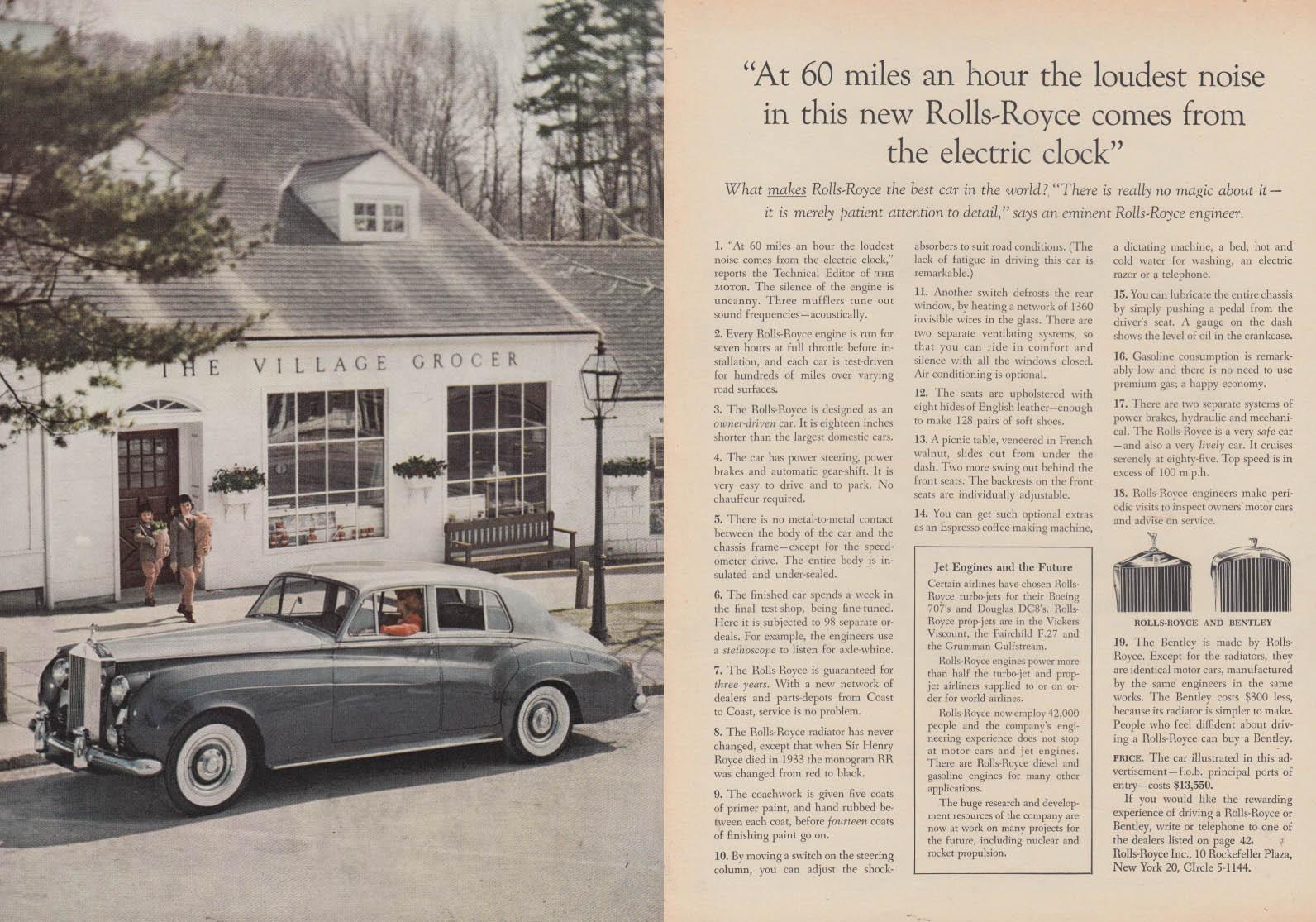 At 60 mph the loudest noise Rolls-Royce / Eero Saarinen Table Knoll ad 1958