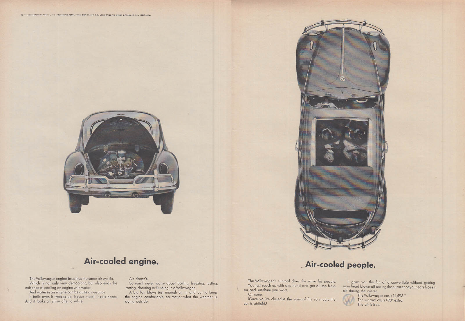 Air-cooled engine - Air-cooled people - Volkswagen ad 1963 T