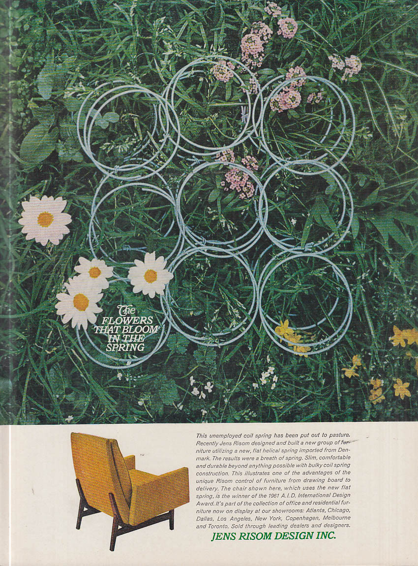 The Flowers That Bloom in the Spring - Jens Risom Design Chair ad 1961