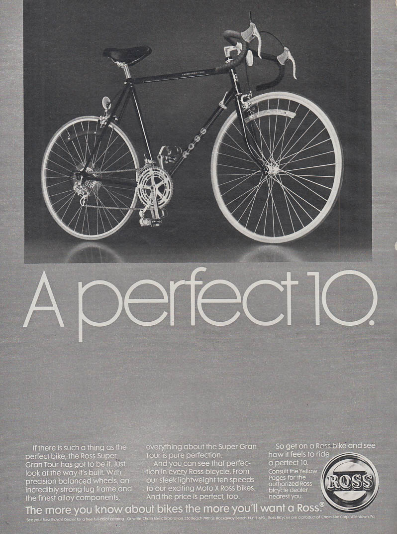 A perfect 10 - Ross Super Gran Tour Bicycle ad 1981