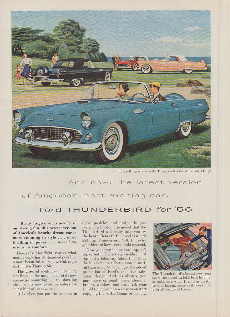 Image for Latest version of America's most exciting car Ford Thunderbird ad 1956 var