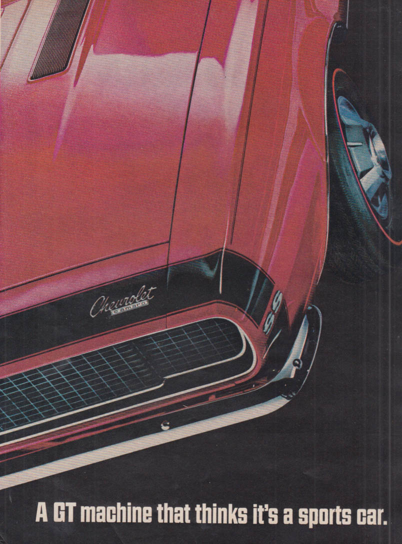 A GT Machine that thinks it's a sports car Camaro SS 350 ad 1967 MT