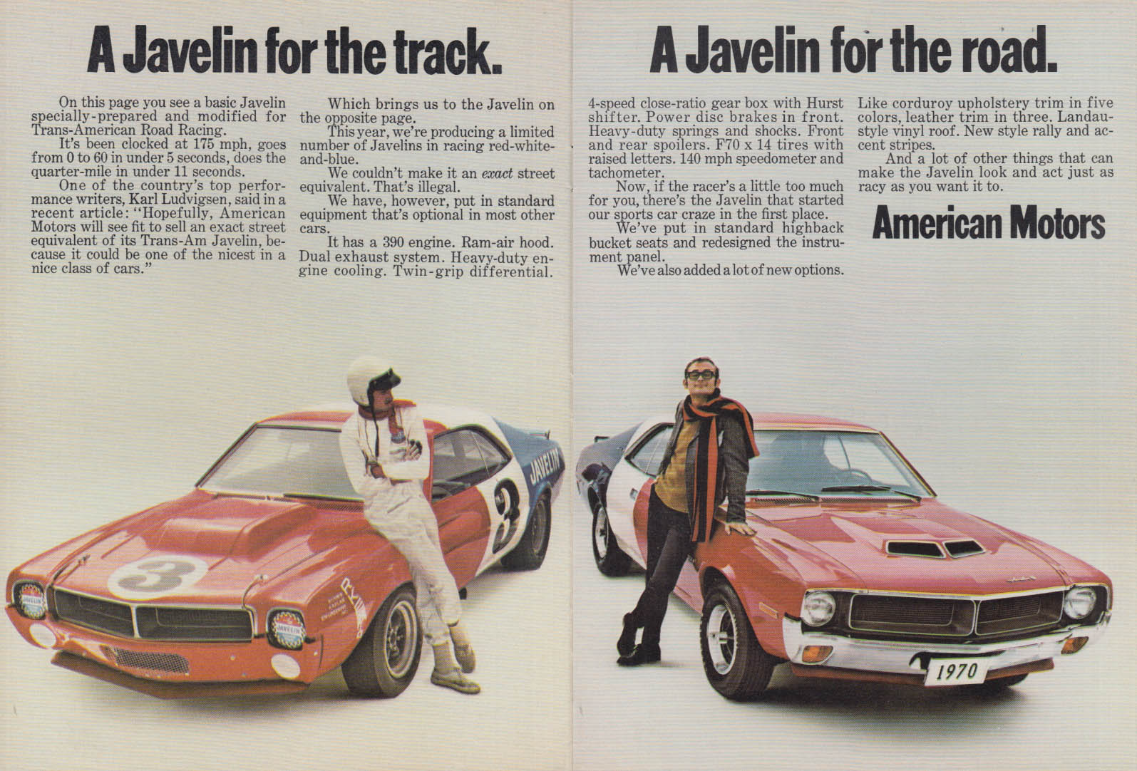 Image for A Javelin for the road A Javelin for the track ad 1970
