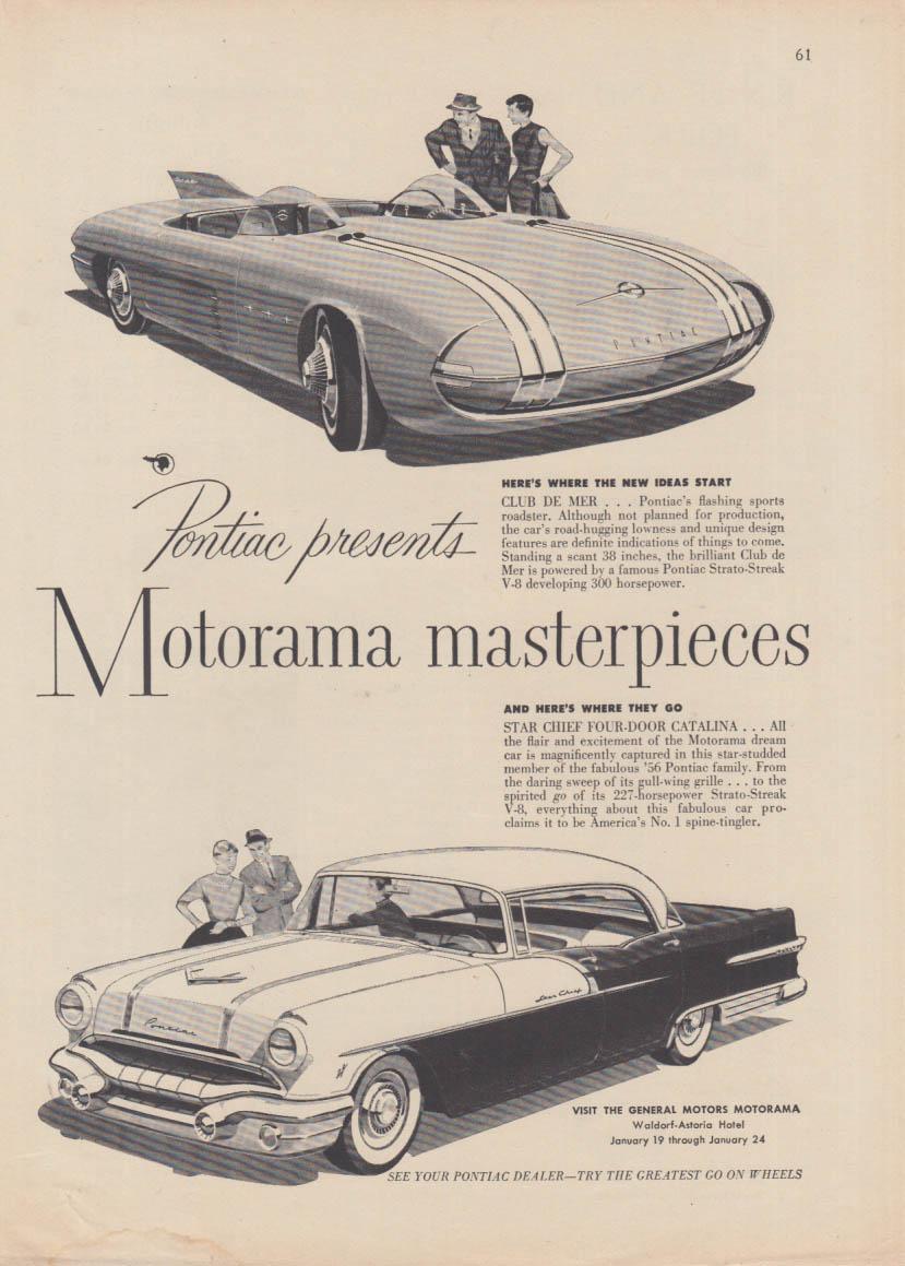 Pontiac Presents Motorama Masterpieces Club De Mer Star Chief Ad 1956