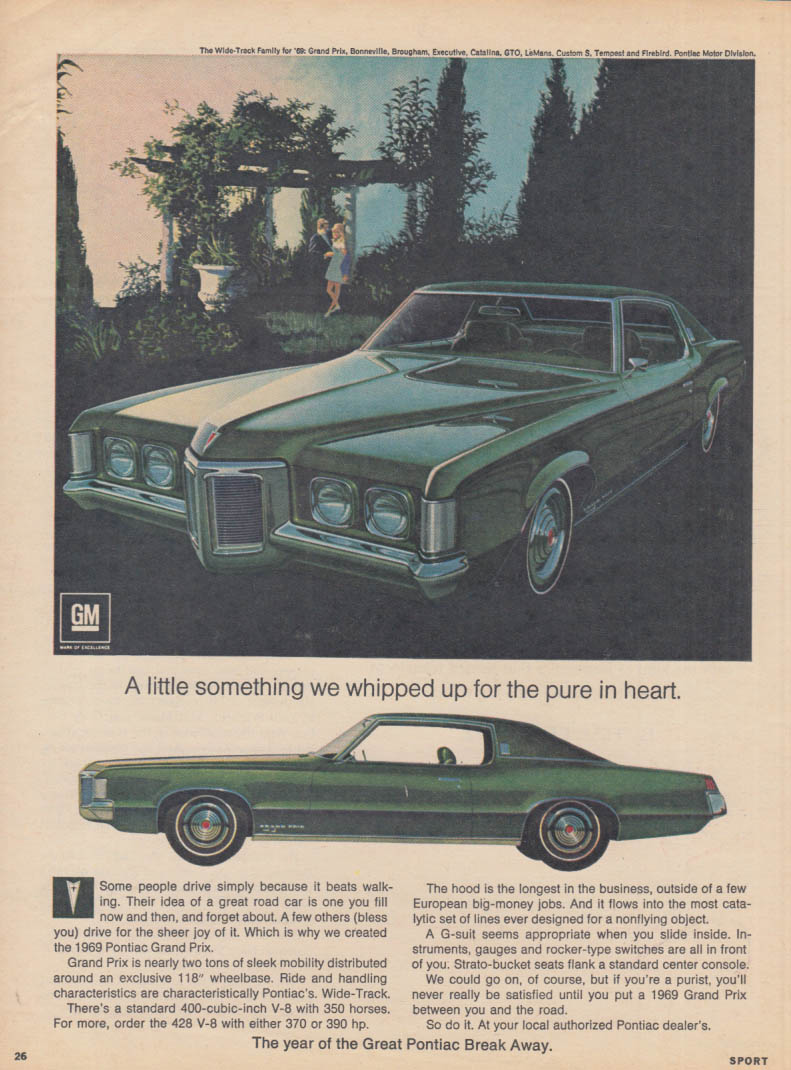 A little something we whipped up Pontiac Grand Prix SJ ad 1969