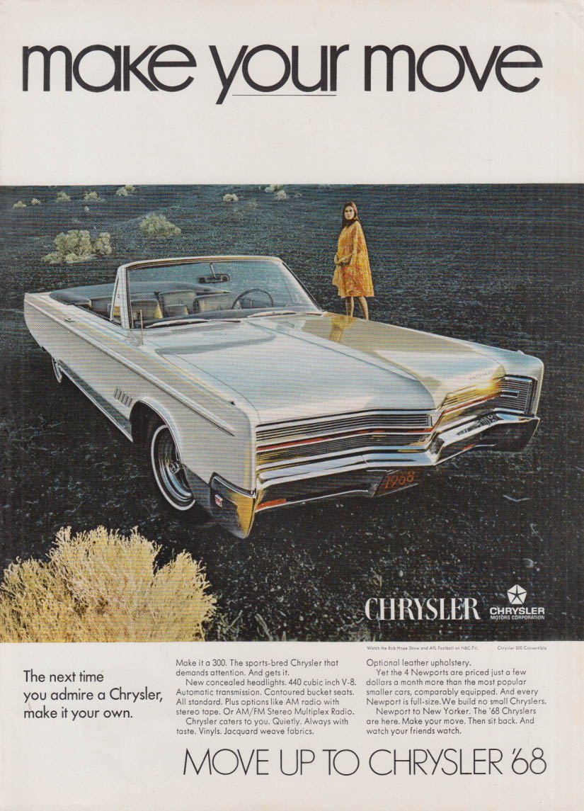 Image for The next time you admire a Chrysler 300, make it your own ad 1968 NY