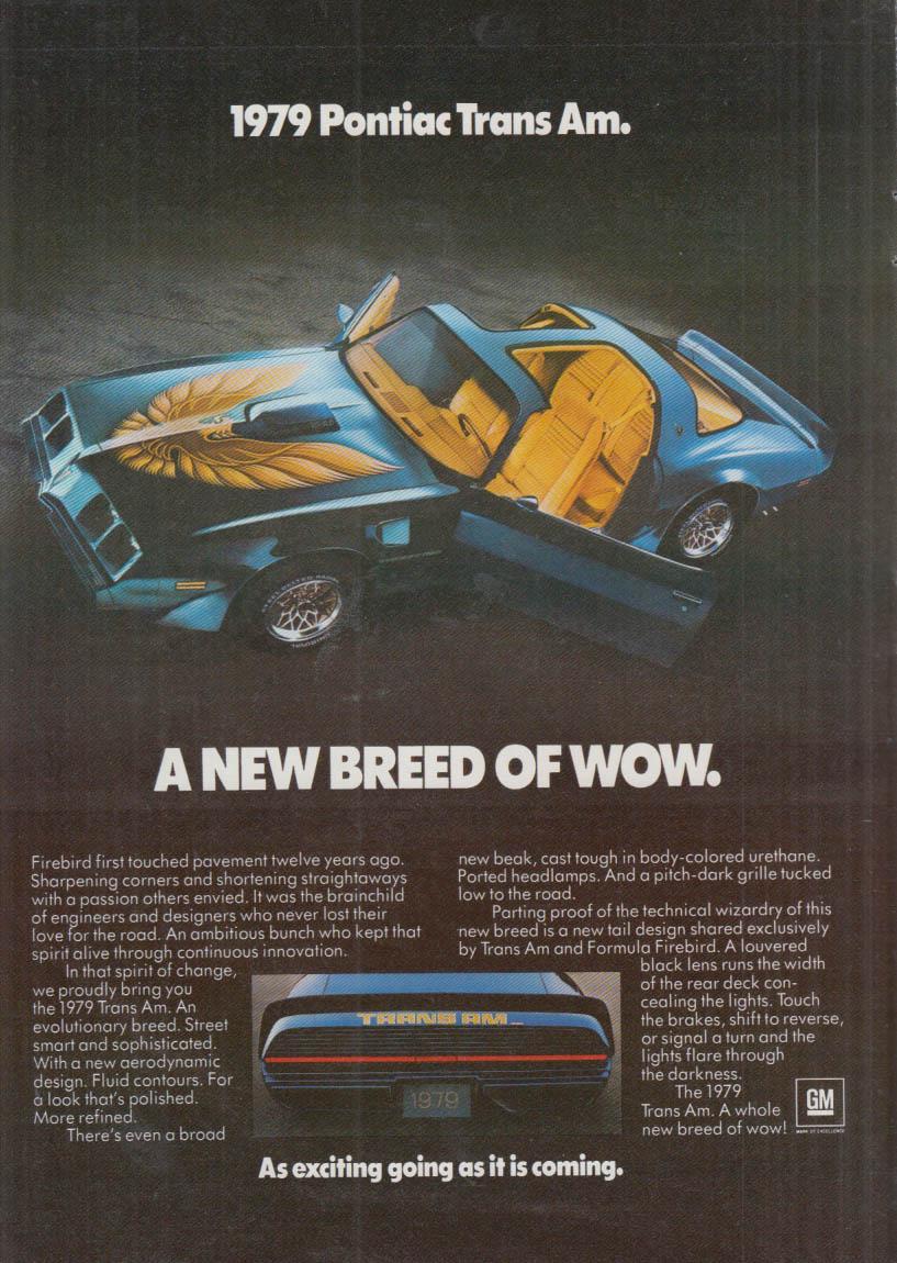 A new breed of wow Pontiac Trans Am ad 1979 NY
