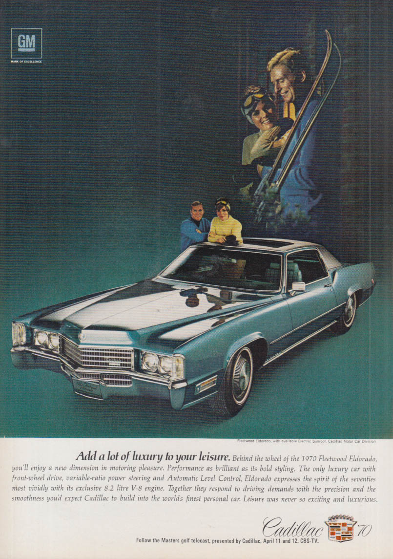 Add a lot of luxury to your leisure Cadillac Eldorado ad 1970 NY