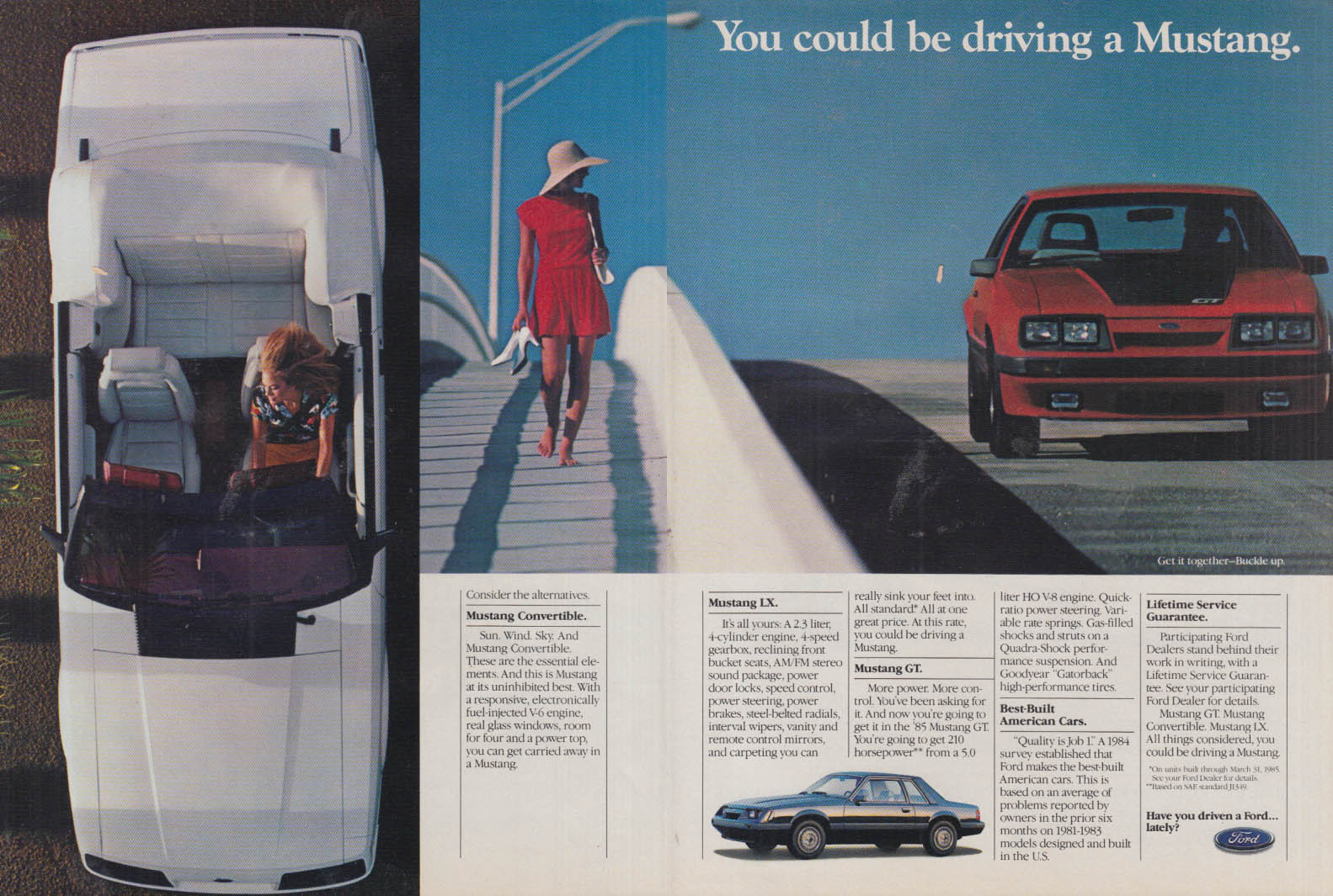 Image for You could be driving a Ford Mustang Convertible LX or GT ad 1985 NW