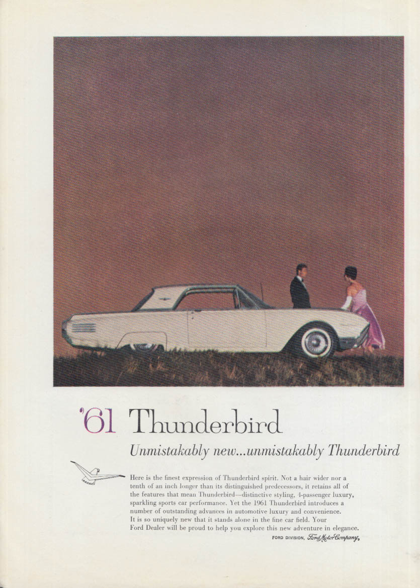 Image for Unmistakably new - Unmistakably Thunderbird ad 1961 Chicago Auto Show Program