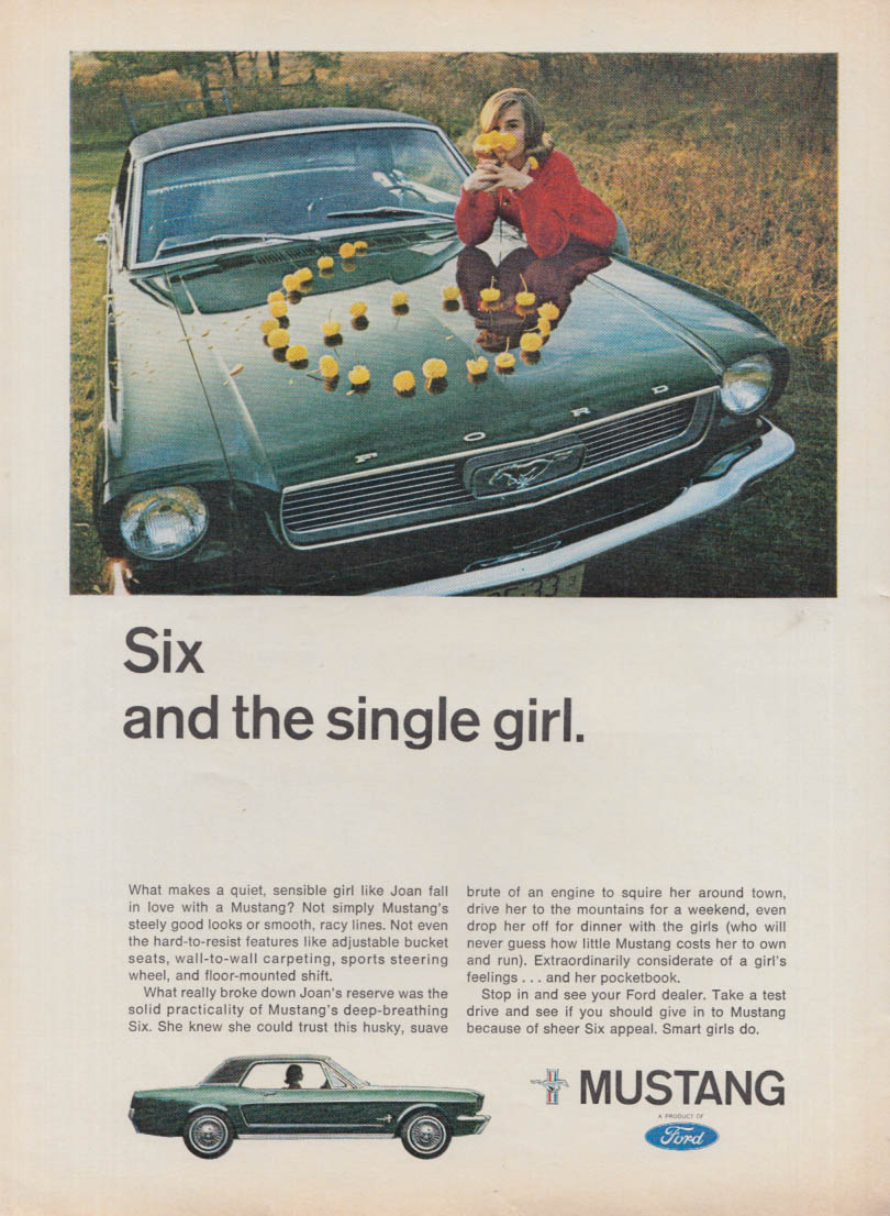 Six and the single girl - Ford Mustang ad 1966