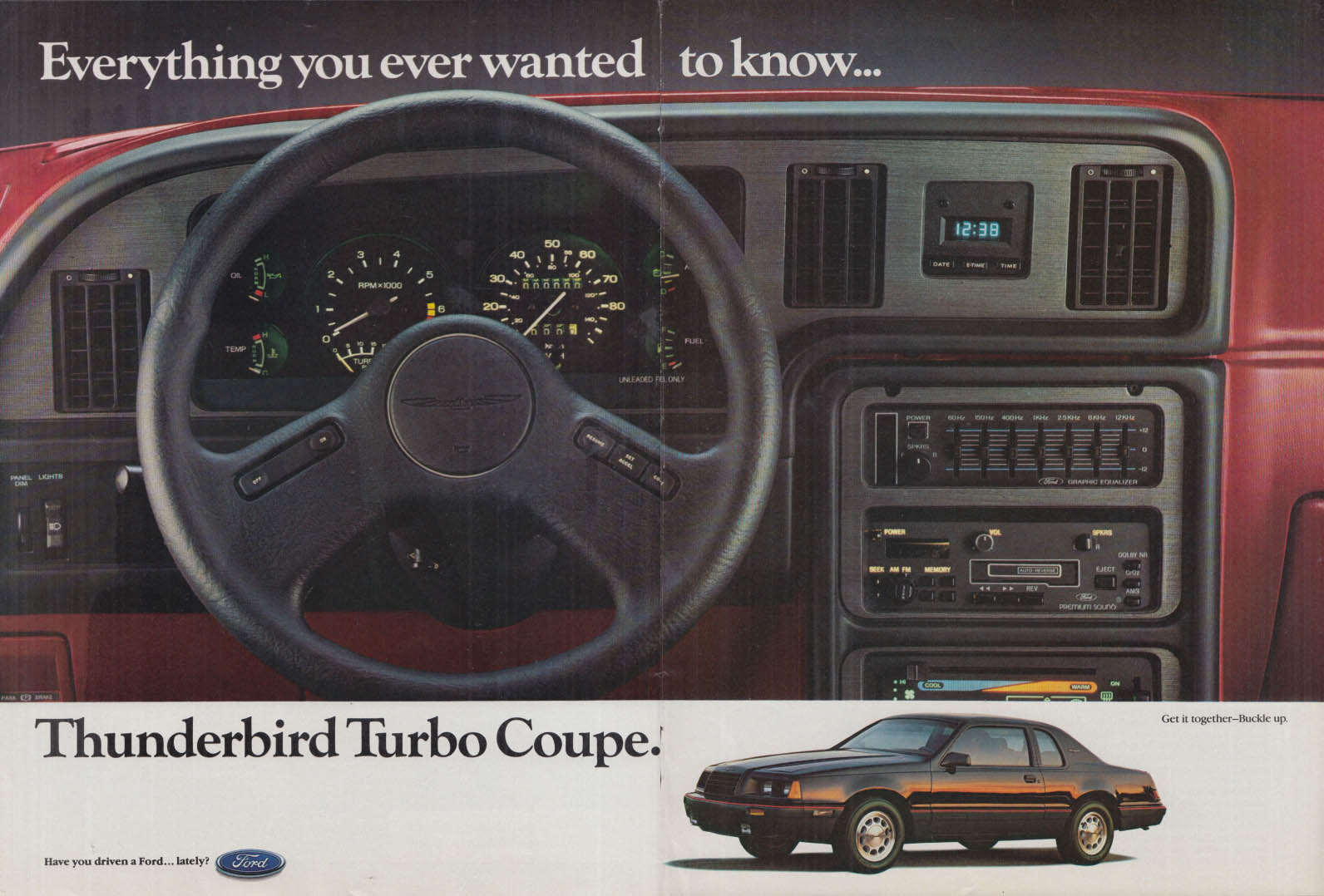 Everything you ever wanted to know Thunderbird Turbo Coupe ad 1985