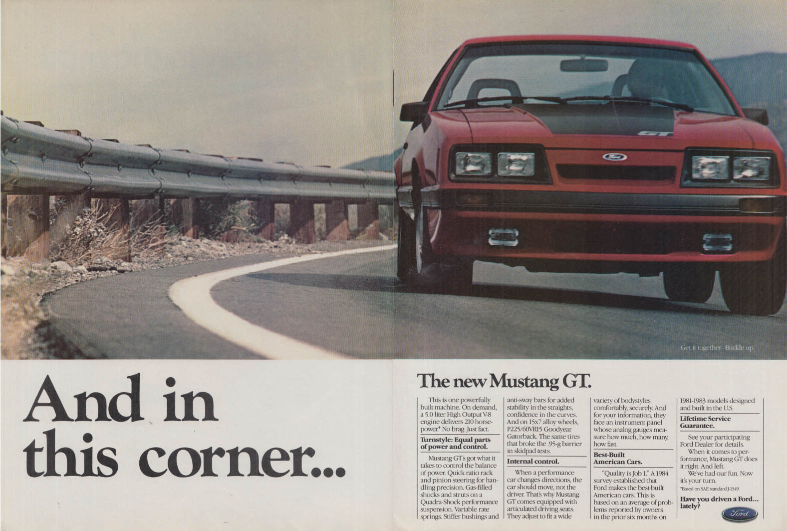 Image for And in this corner -Ford Mustang GT ad 1985