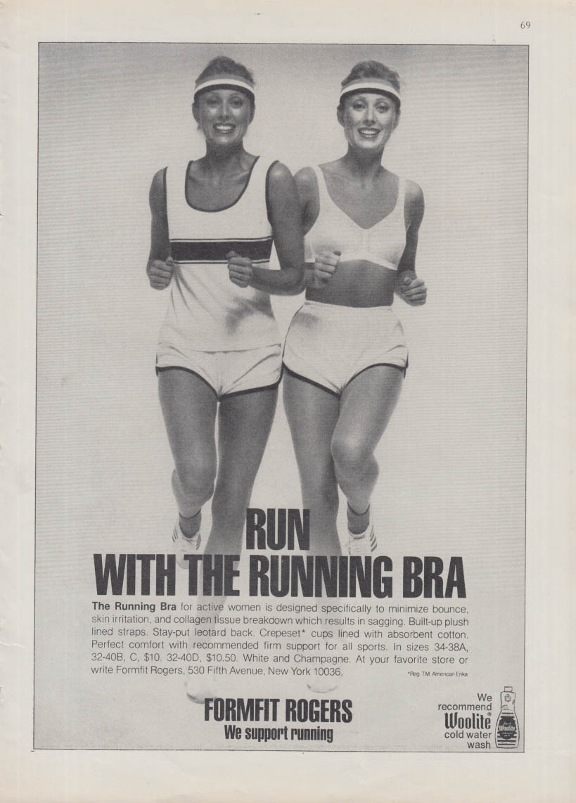 Run with the Running Bra - Formfit Rogers ad 1979 NY