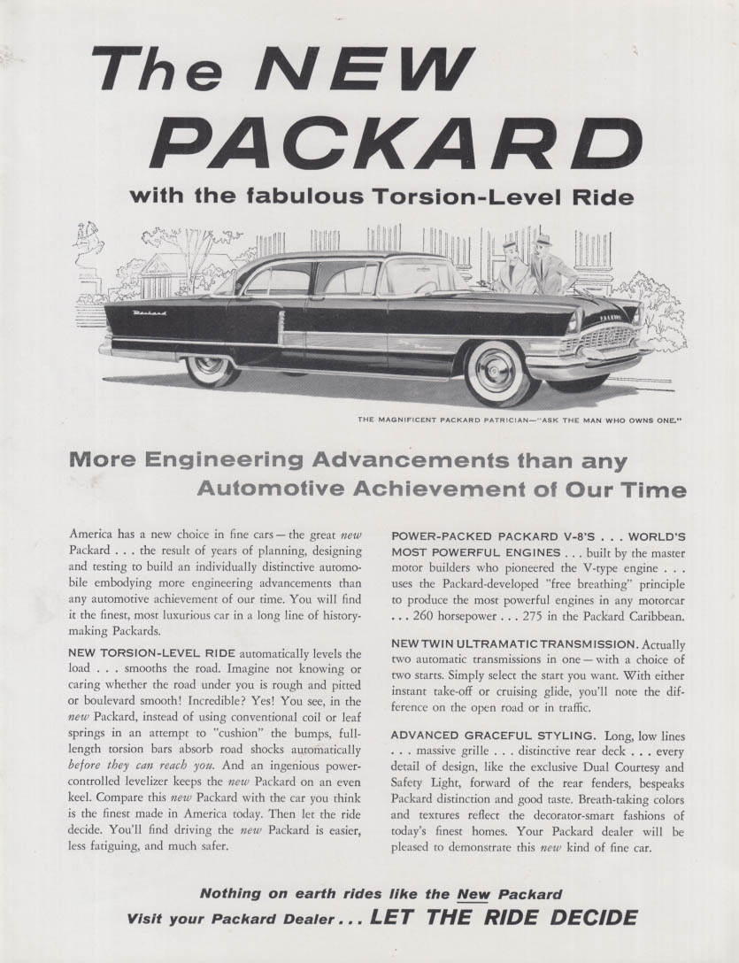 More Engineering Advancements - Packard Patrician ad 1955