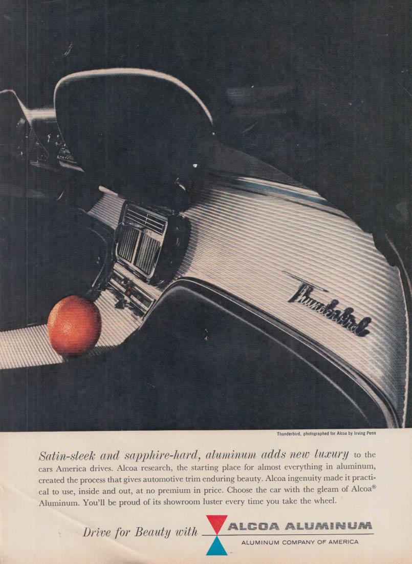Image for Satin-sleek & sapphire-hard Alcoa Aluminum trim 1961 Thunderbird ad Irving Penn