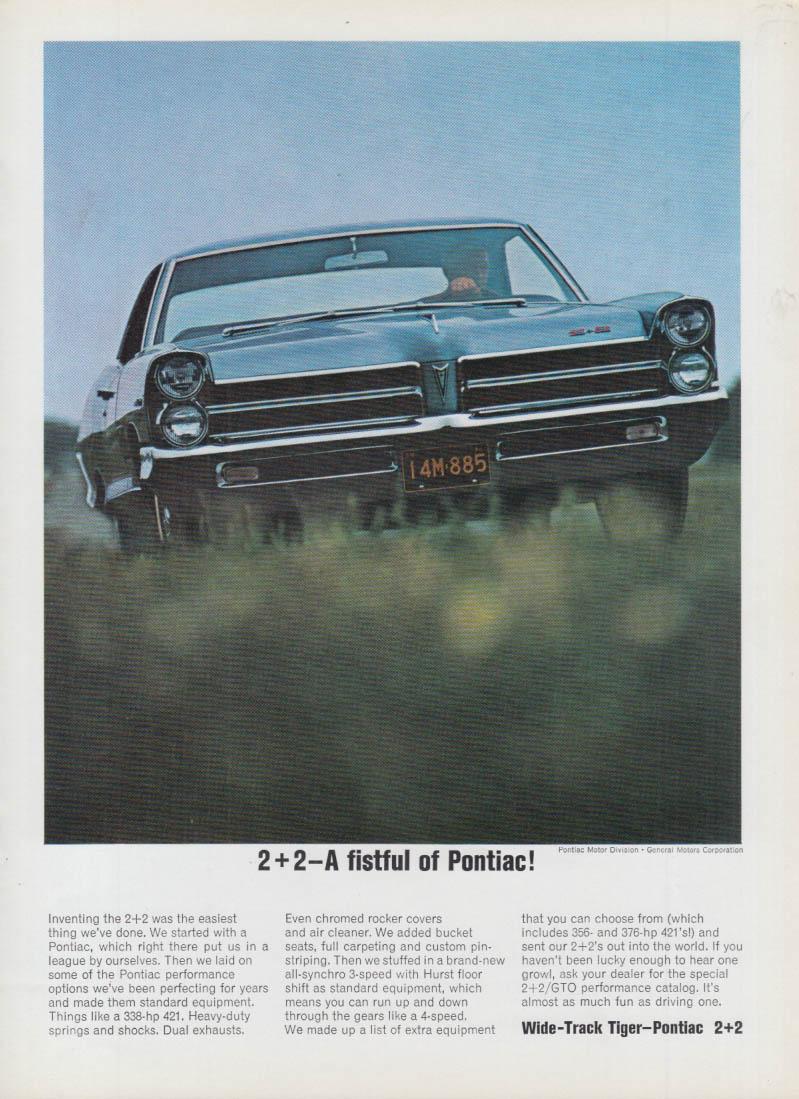 2+2 - A fistful of Pontiac ad 1965 var