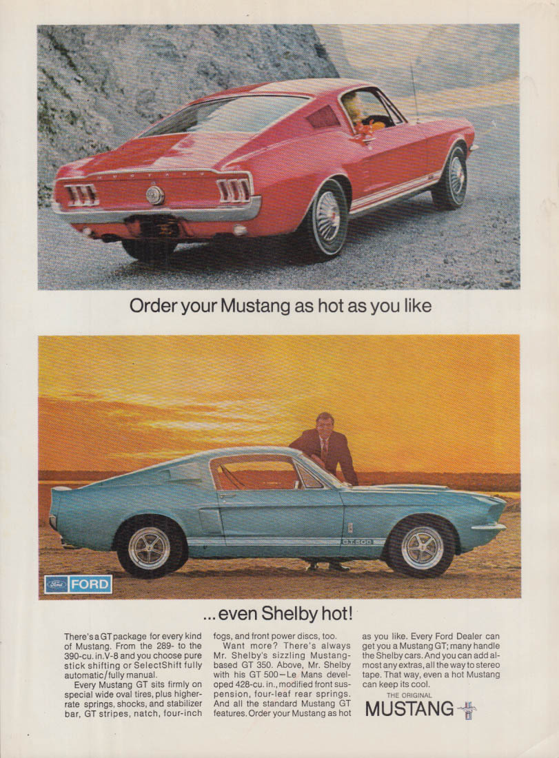 Image for Order your Mustang as hot as you like - evern Shelby GT-500 Hot ad 1967