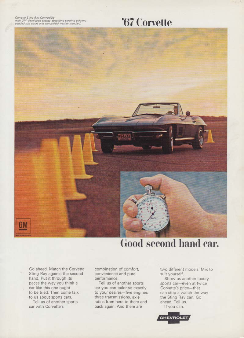 Good second hand car - Chevrolet Corvette ad 1967 RT