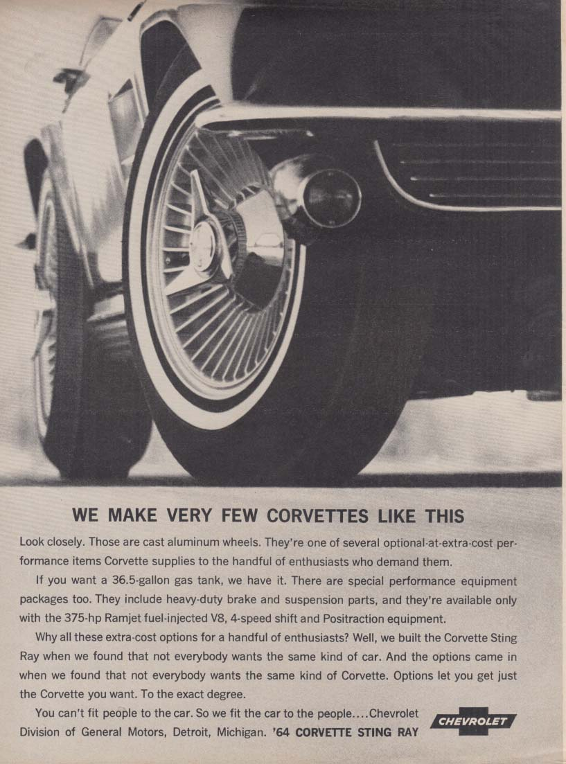 We make very few Corvettes like this ad 1964 RT