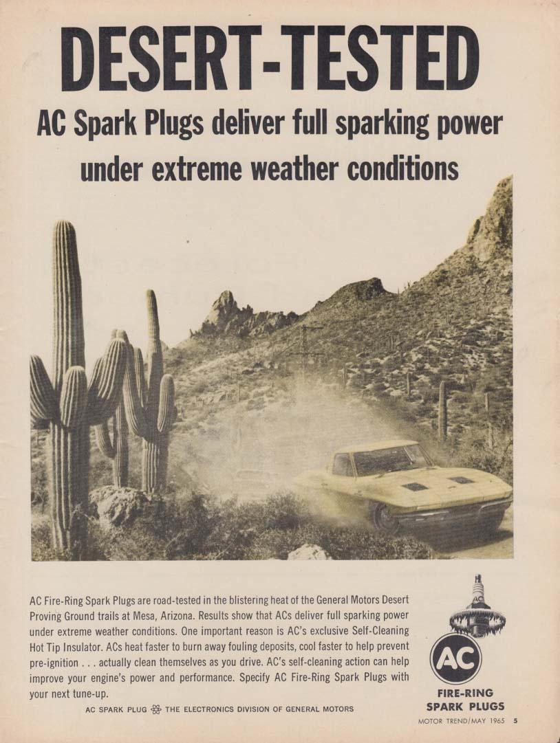 Desert-tested- AC Spark Plug Deliver Full Power ad 1965 MT