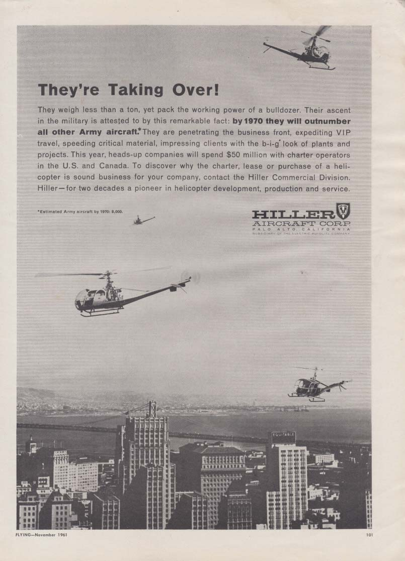 They're Taking Over! Hiller Helicopter ad 1961