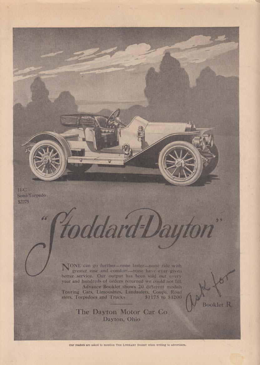 Stoddard-Dayton 11-C Semi-Torpedo Roadster $2275 ad 1911