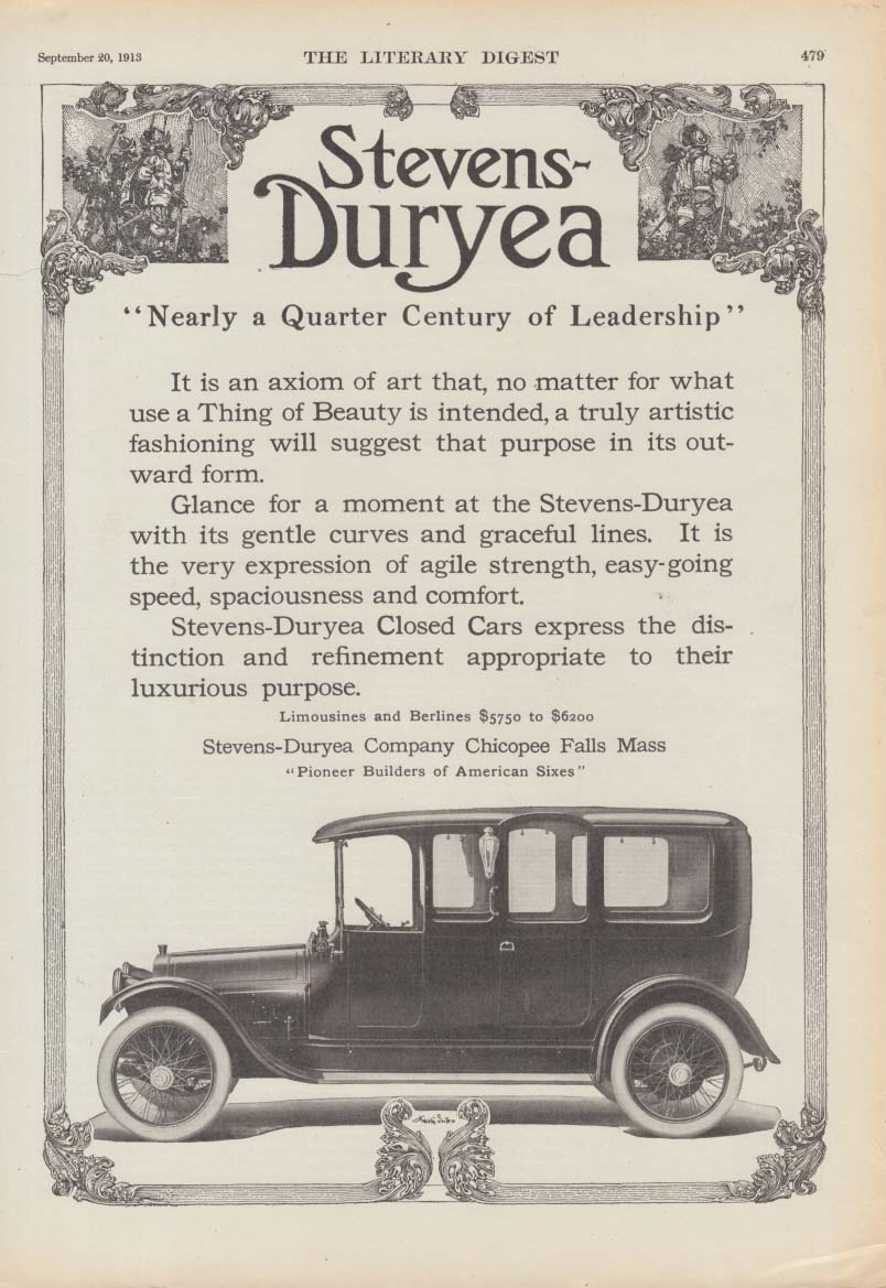 Image for Nearly a Quarter Century of Leadership - Stevens-Duryea ad 1913