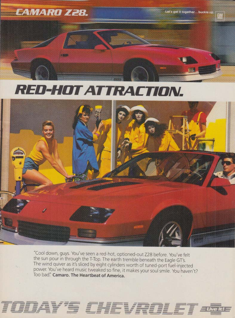 Red Hot Attraction - Chevrolet Camaro Z28 ad 1986 C&D
