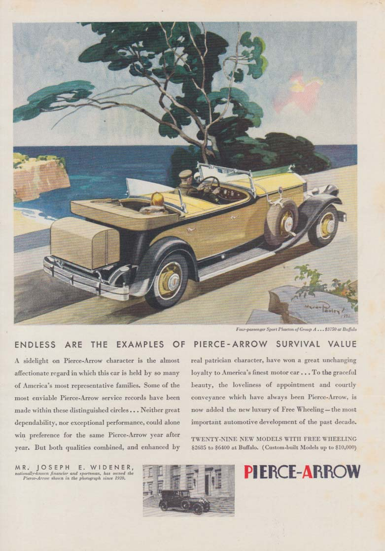 Endless are the examples of Pierce-Arrow survival value ad 1931 Sport Phaeton