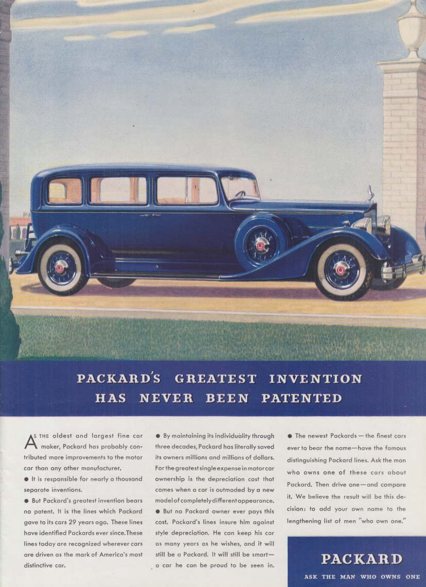 Packard's Greatest Invention Never Patented - Packard Sedan ad 1934 T