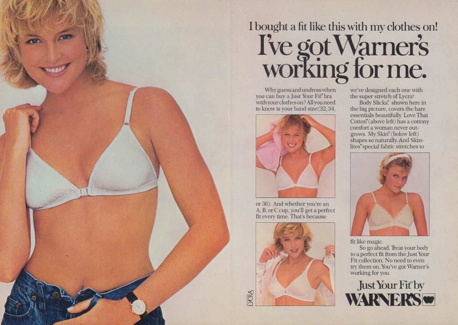 0e1a7a0d1a I ve got Warner s working for me Warner s JustYourFit Bra ad 1986