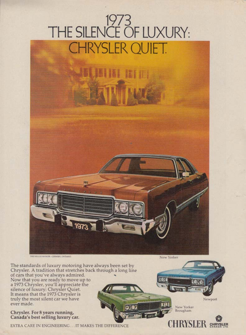 Image for The Silence of Luxury: Chrysler Quiet Chrysler New Yorker Canadian ad 1973