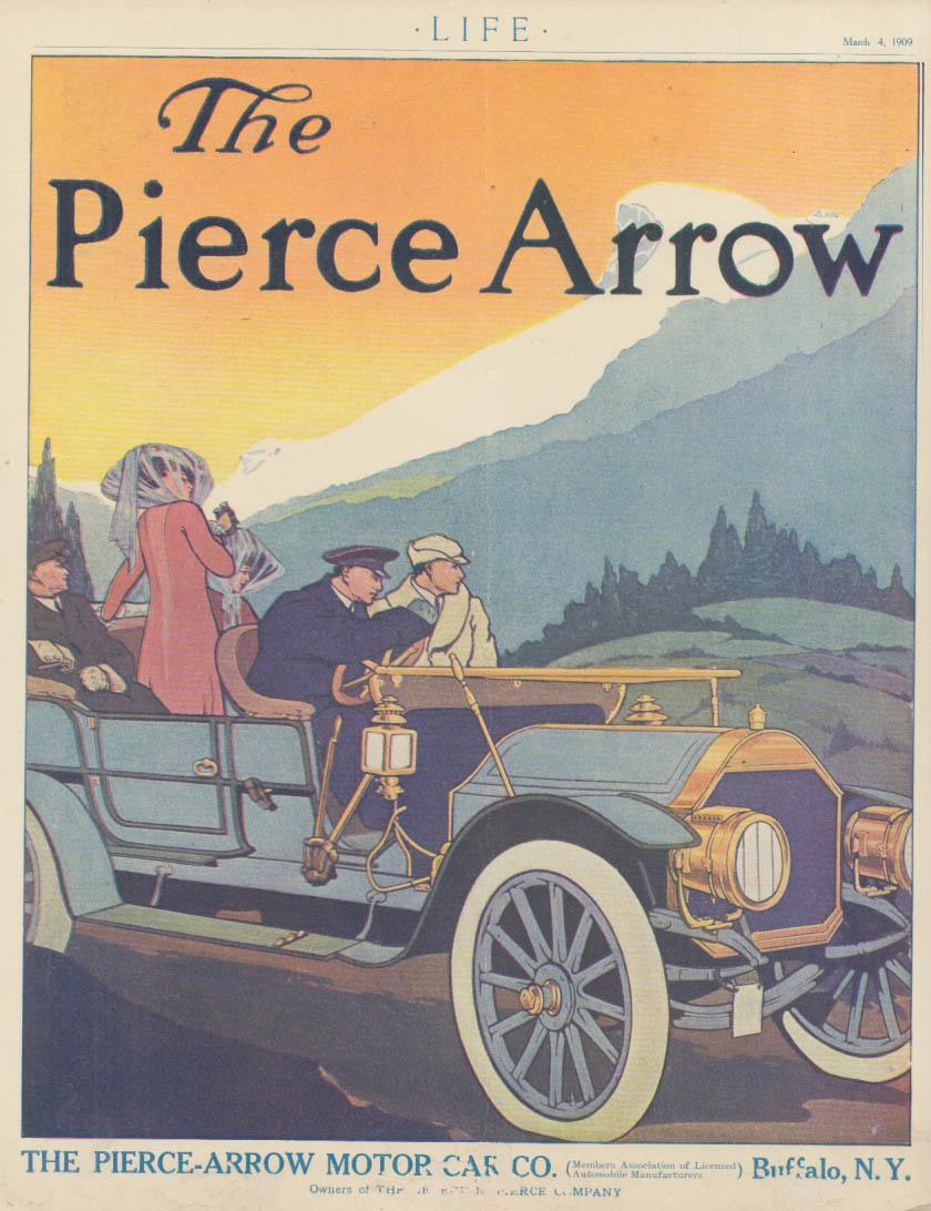The Pierce Arrow Touring Car mountain vista ad 1909 L