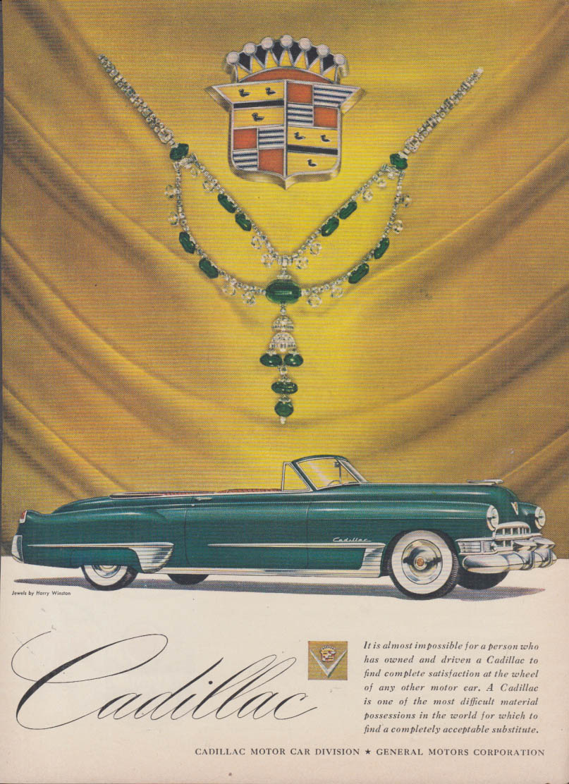 It is almost impossible - Cadillac Convertible ad 1949 T