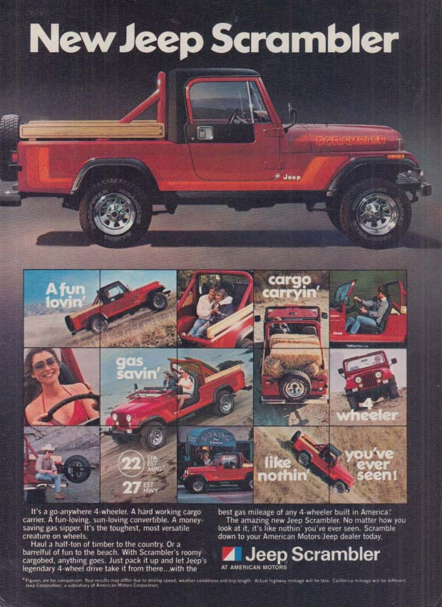 Image for It's a go anywhere 4-wheeler - Jeep Scrambler ad 1981 OL