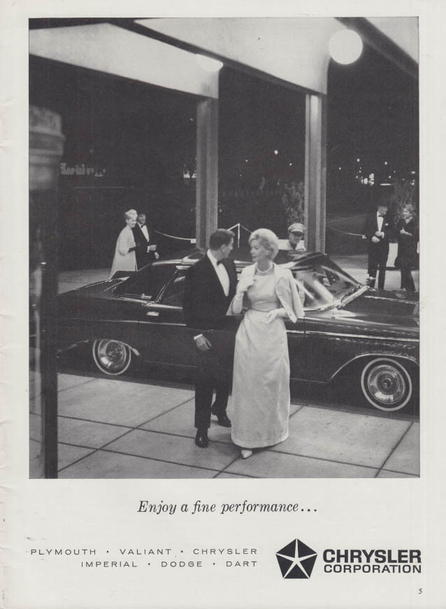Image for Enjoy a fine performance Imperial LeBaron from Chrysler ad 1963