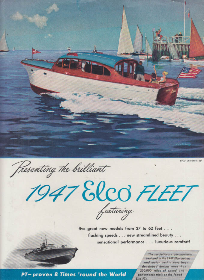 Image for Presenting the 1947 Elco Cruisette 35' ad 1947